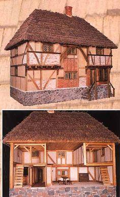 Dollhouse Miniatures : Tudor dollhouse  Share, Repin, Comment - Thanks!