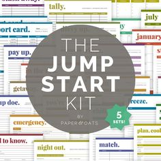 The Jump Start Kit, Home Management Binder, Home Starter Kit, Organization Planner, Includes 5 Sets (includes Calendars + Scheduling, Budget Planning, Cleaning Checklists, Home Reference + Babysitters, and Meal Planning), 42 Pages // Household PDF Printables by paperandoats, $26.00