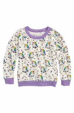 Chaser Unicorns Love Sweatshirt (Toddler Girls & Little Girls)