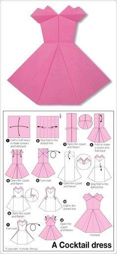 Plus de 1000 id es propos de pliage serviette robe sur pinterest origami serviettes et robe - Robe en origami ...