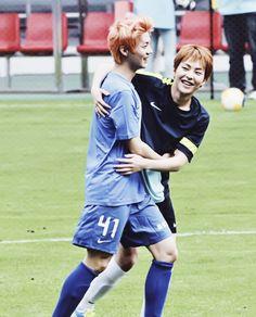 #kpop #exo #exom #luhan #lulu #Xiluhan #xiaolu #Xiumin #Kim minseok #Minseok #lumin #xiuhan #playing football