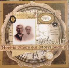 Great-Great grandparents #heritage #scrapbook