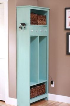 i could see this working well for a house with no entryway. Do It Yourself Home Projects from Ana White