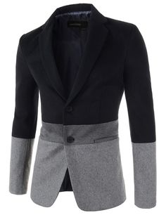 Mens Slim Fit Notched Lapel 3 Tone Color Single Breasted 2 Button Jacket is part of Mens fashion - Mode Masculine, Suit And Tie, Well Dressed Men, Jacket Buttons, Gentleman Style, Slim Man, Men Looks, Mens Fashion, Fashion Trends