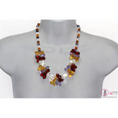 Collar, Collar de Piedra Natural, Cuarzo Cristal, Collar Corto de Piedra Natural