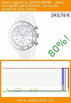 Swiss Legend SL-30050-WWSR - Reloj cronógrafo para hombre, correa de cerámica color blanco (Reloj). Baja 80%! Precio actual 243,76 €, el precio anterior fue de 1.196,80 €. http://www.adquisitio.es/swiss-legend/sl-30050-wwsr-reloj