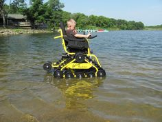 Pictures of the Ultimate All-Terrain Wheelchair in action - Action TrackChair