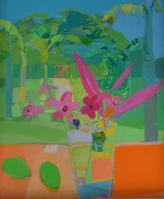 Frangipani and Limes by Claire Harrigan