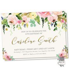 60th Birthday Invitations 60th Birthday Invite Birthday