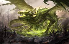 Rejuvenation by sandara acid swamp bog forest green dragon monster beast creature animal | Create your own roleplaying game material w/ RPG Bard: www.rpgbard.com | Writing inspiration for Dungeons and Dragons DND D&D Pathfinder PFRPG Warhammer 40k Star Wars Shadowrun Call of Cthulhu Lord of the Rings LoTR + d20 fantasy science fiction scifi horror design | Not Trusty Sword art: click artwork for source