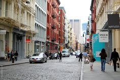 Colorful streets of Soho, NYC