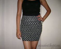 Ariana's Closet: DIY: Bodycon Skirt Part 2
