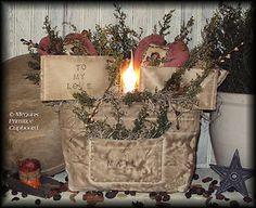 Another Great primitive Valentine Mail bag handmade by Megans Primitive Cupboard for Sale! ~SOLD~