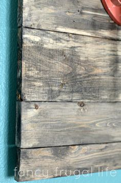 How to make faux barn wood