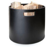 Ørskov Kaminholzkorb Log Barrel Leder schwarz