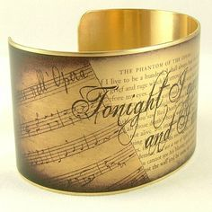 Phantom Of The Opera Jewelry - Romantic Literary Quote Bracelet - Brass Cuff - Gaston Leroux on Etsy