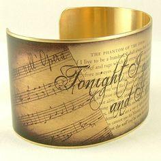 Phantom Of The Opera Jewelry - Romantic Literary Quote Bracelet - Brass Cuff - Gaston Leroux on Etsy