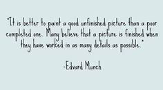 Edvard Munch Quote www.SarahMeder.com