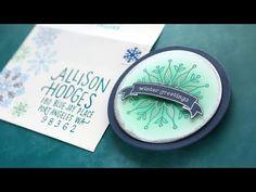 Snowflake Builder Card Kit Envelope Inspiration Simon Says Stamp Kristina Werner