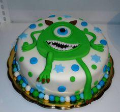 Modro zelený dortík s kuliočkem. Birthday Cake, Birthday Cakes, Cake Birthday, Birthday Sheet Cakes
