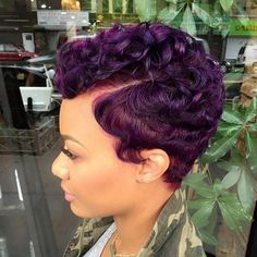 curly pixie hairstyle for black women