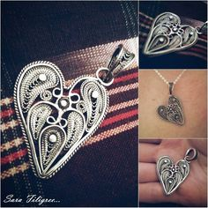 Handmade silver filigree pendant...