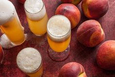 Peach Bellini ~ when fresh peaches are in season, a Bellini is the way to go. All you have to do is peel and purée the peaches with a little lemon juice and some peach liqueur, pour some sparkling wine into a champagne flute, and stir in a spoonful of the purée.