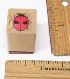 LADYBUG SMALL WOOD MOUNTED Rubber Stamp   #NOBRAND #regular