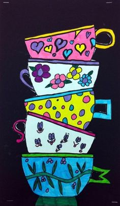 Artsonia Art Museum :: Tea cups