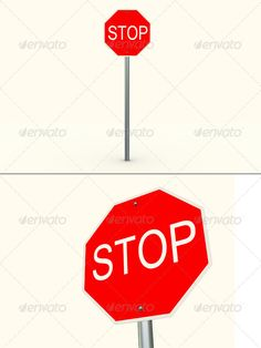 Hi! These are two 3D renders of stop sign in high resolution: 3000x2000. Each one consists of .tif, .jpg, .png (both with alpha c