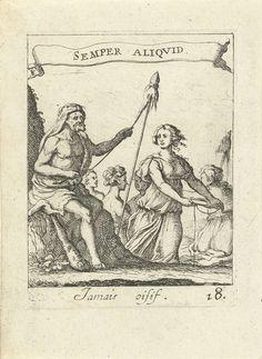 Spinnende Hercules, Albert Flamen, 1672