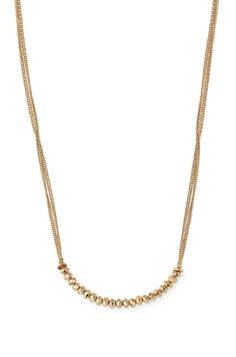 Faceted Bead Double-Strand Layering Chain | Piper Necklace | Stella & Dot