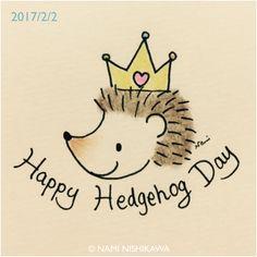 1111 2月2日はハリネズミの日 hedgehog day