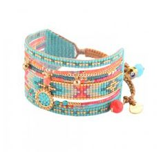 Woman pearl Medly turquoise bracelet