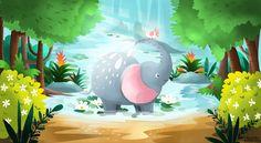 Elephant Shower  https://www.facebook.com/KatjaPotokarIllustration/