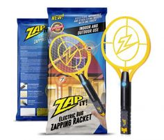 Best Fly Killers For Indoors And Outdoors: Zap-It! Bug Zapper - Rechargeable Mosquito, Fly Killer and Bug Zapper Racket - 3000 Volt - USB Charging, Super-Bright LED Light to Zap in the Dark - Unique Safety Mesh That's Safe to Touch Mosquito Zapper, Bug Zapper, Mosquito Killer Machine, Usb, Electric Bug, Get Rid Of Flies, Led Licht, Luz Led, Pest Control