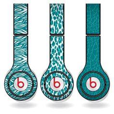 Amazon.com: Teal Animal Print Set of 3 Headphone Skins for Beats Solo HD Headphones - Removable Vinyl Decal!: Electronics