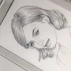 Girl Hair Drawing, Cute Girl Drawing, Cute Drawings, St Cuthbert, Pencil Sketch Drawing, How To Draw Hair, Foto E Video, Girl Hairstyles, Amy