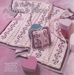 Pink Afghan Crochet Pattern  Matching PIllow by PaperButtercup, $3.59