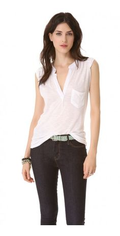 WAILEA TOP $127.60 SPECIAL $41.65 YOU SAVE: 67% In soft, slubbed jersey, this breezy sleeveless top from Young Fabulous & Broke is an effortless warm-weather staple. Pleated shoulder seams and a split V neckline flatter the shoulders, and a breast pocket finishes the look. Rounded hem. Semi-sheer.