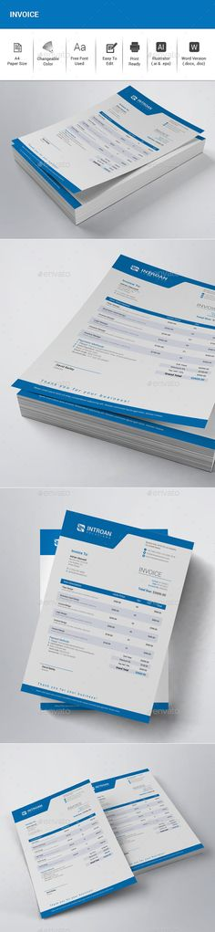 #Invoice - #Proposals & Invoices Stationery Download here:  https://graphicriver.net/item/invoice/20308588?ref=alena994