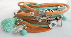 Soft orange with mint. www.fabook.com/mariastinytreasures www.tinytreasures.nl