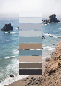 Best Living Room Color Schemes Idea [To Date] Color Scheme Nature Landscapes, Ecola State Park Cliffs. Paint Colors For Home, House Colors, Natural Paint Colors, Wallpaper Colour, Wallpaper Ideas, Pantone, Living Room Color Schemes, Beach Color Schemes, Colour Pallette