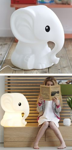 Ellie Lamp-- very cute for a little one's room Bedroom Lamps, Kids Bedroom, Elephant Lamp, Elephant Room, Elephant Stuff, Baby Elephant, Little Ones, Little Girls, Deco Design