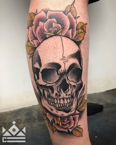 Neo-traditional skull and rose tattoo by Alec Rowe at Certified Tattoo Studios! ---------------------------------------------------------------- Certified Tattoo Studios 1559 S. Broadway Denver, CO 80210 Thinking about your next tattoo? Give us a call at 720-366-6925 or email booking@certifiedcustoms.net to set up an appointment. #ink #tatuaje #beauty #style #art #love #certifiedcustoms #denver #tattoos
