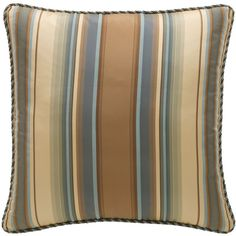 Legacy By Friendly Hearts Bella Striped Pillow (44 KWD) ❤ liked on Polyvore featuring home, home decor, throw pillows, striped throw pillows, stripe throw pillows and striped accent pillows