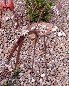 garden art shovel bird | art 1