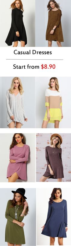 Give yourself a breezy fit this spring season in these casual dresses. Every woman needs to have that comfy classic dress to give her comfort and casual style, and these casual dresses can definitely deliver that.
