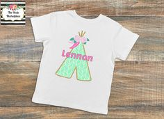 Personalized Tepee Floral Infant Toddler Onesie Bodysuit