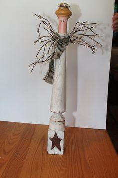 Angel on Vintage Post.  Vintage Prim by CraftsByJoyice on Etsy,